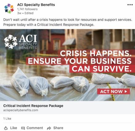 Screenshot of LinkedIn ad