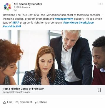 Hidden cost LinkedIn ad