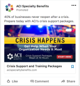Screenshot of LinkedIn ad