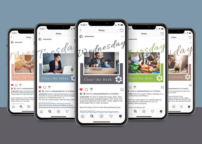iPhones with Instagram screenshots