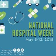 Social media graphic for National Hospital Week