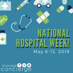 Social media graphic for National Hospital Week
