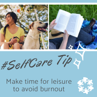Social media graphic for #SelfCare Tip